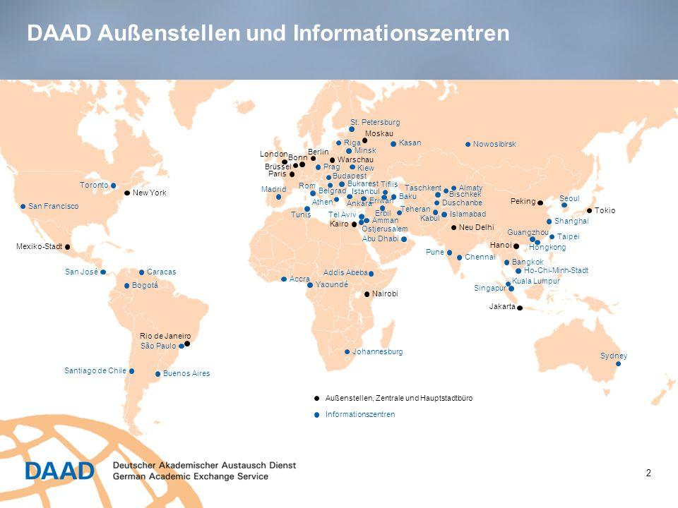 DAAD Außenstellen und Informationszentren