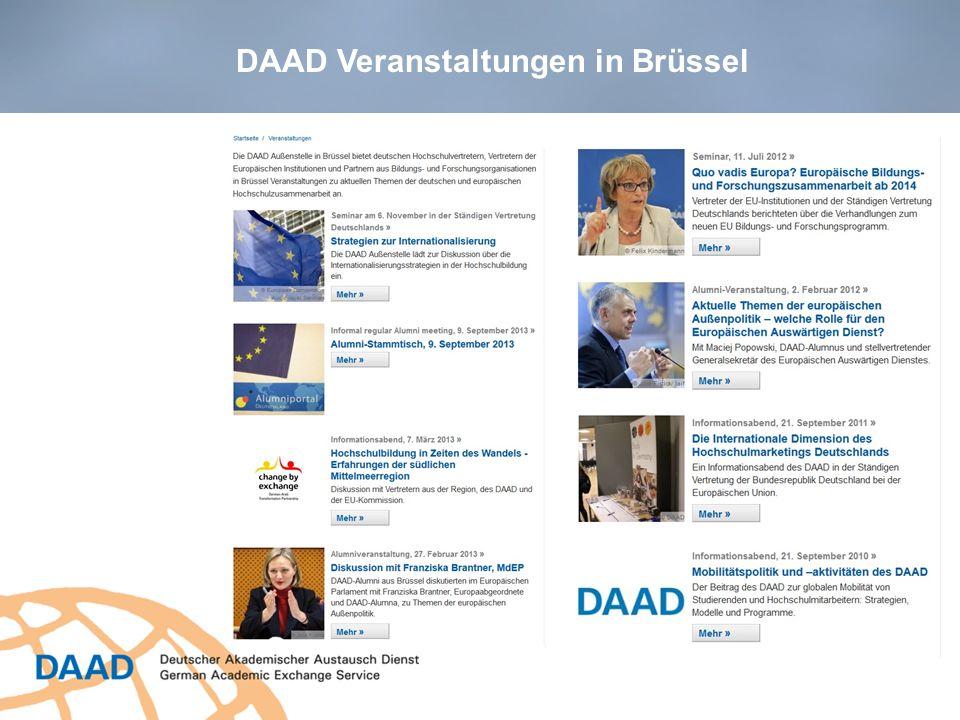 DAAD Veranstaltungen in Brüssel
