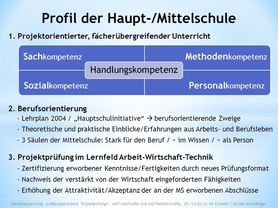 Profil der Haupt-/Mittelschule