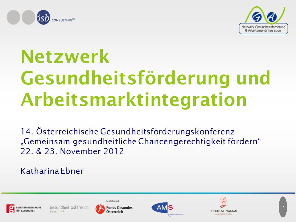 Netzwerk Gesundheitsförderung und Arbeitsmarktintegration