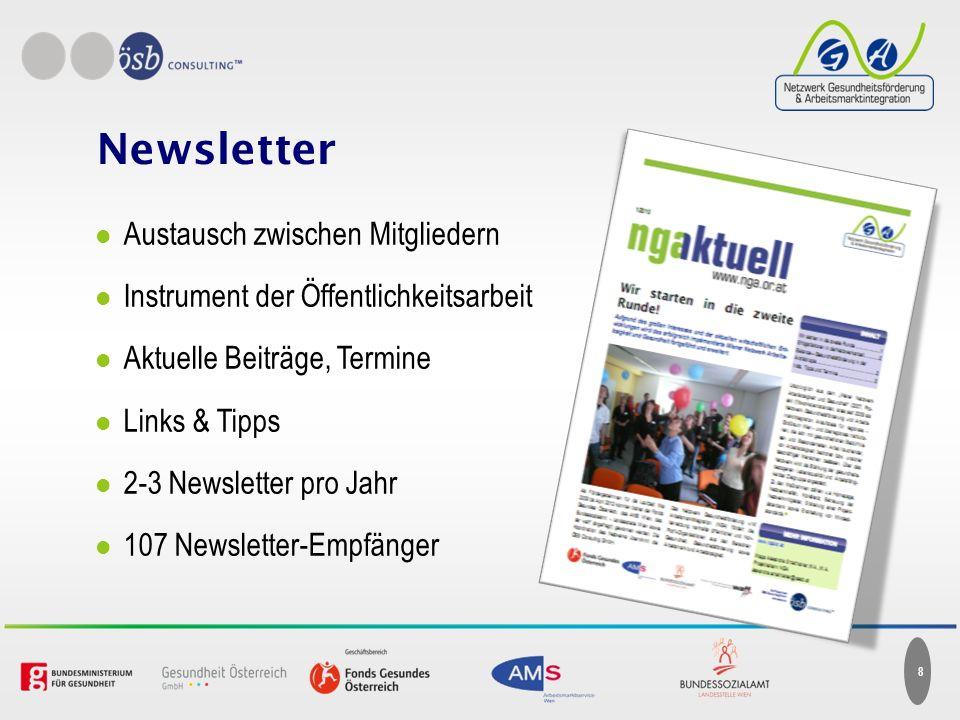 Newsletter Austausch zwischen Mitgliedern