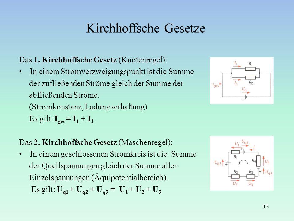 Kirchhoffsche Gesetze
