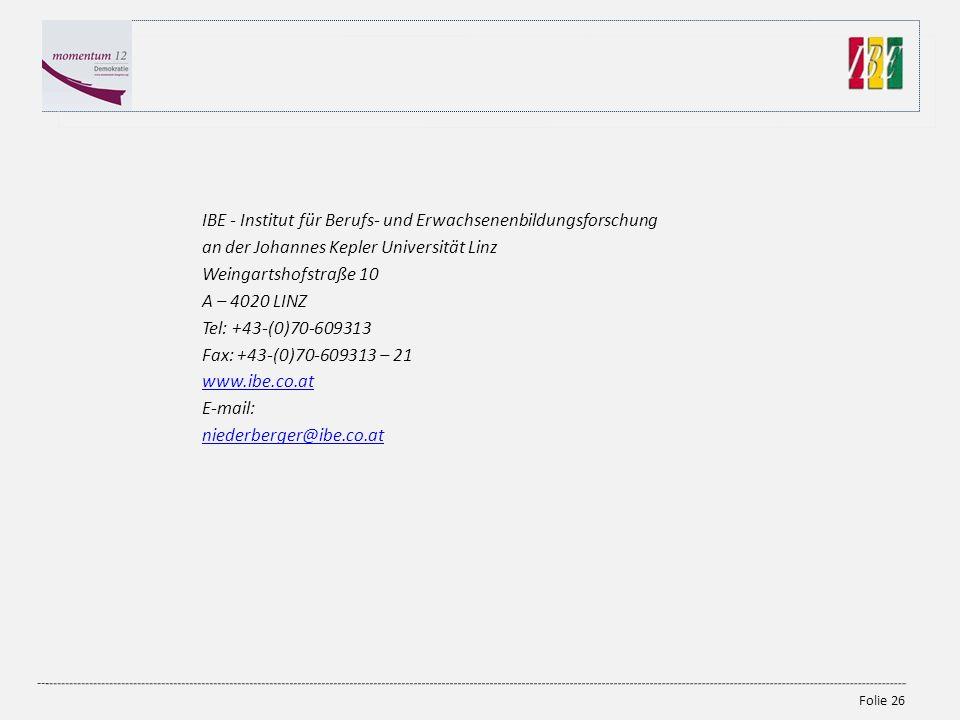 IBE - Institut für Berufs- und Erwachsenenbildungsforschung