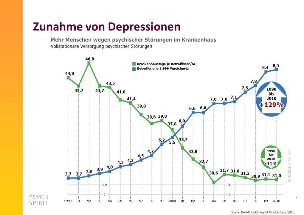 Zunahme von Depressionen