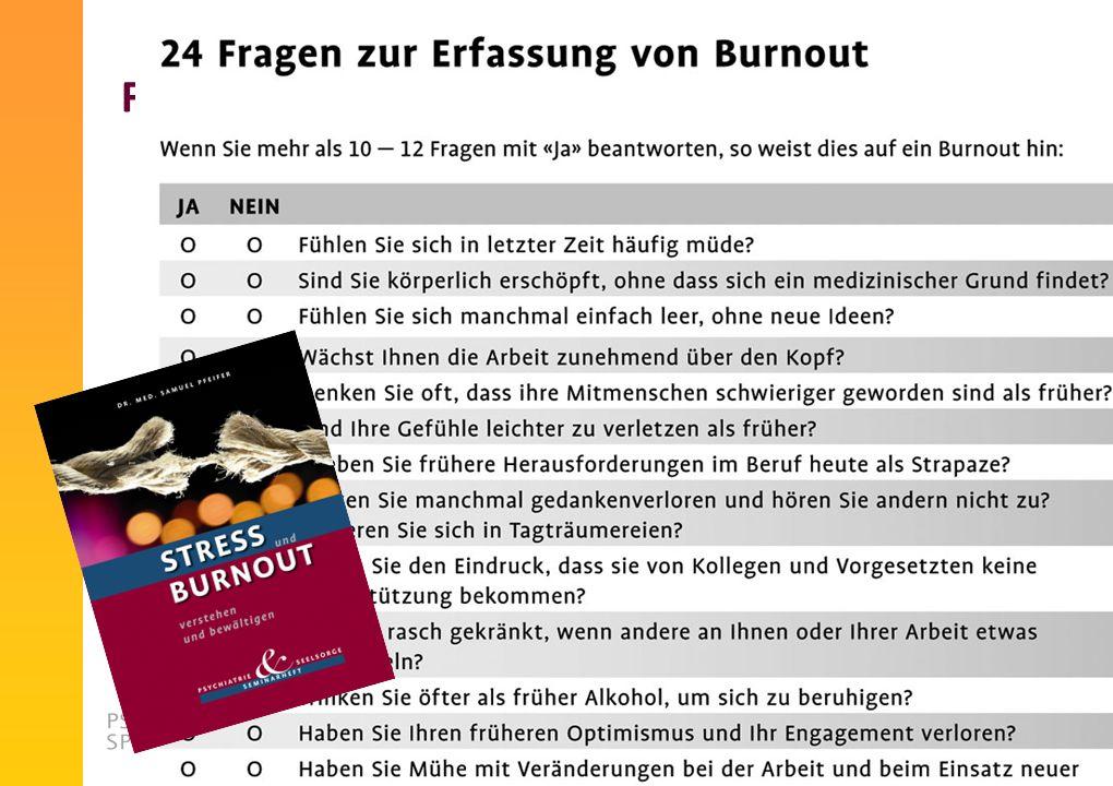 Fragebogen für Burnout