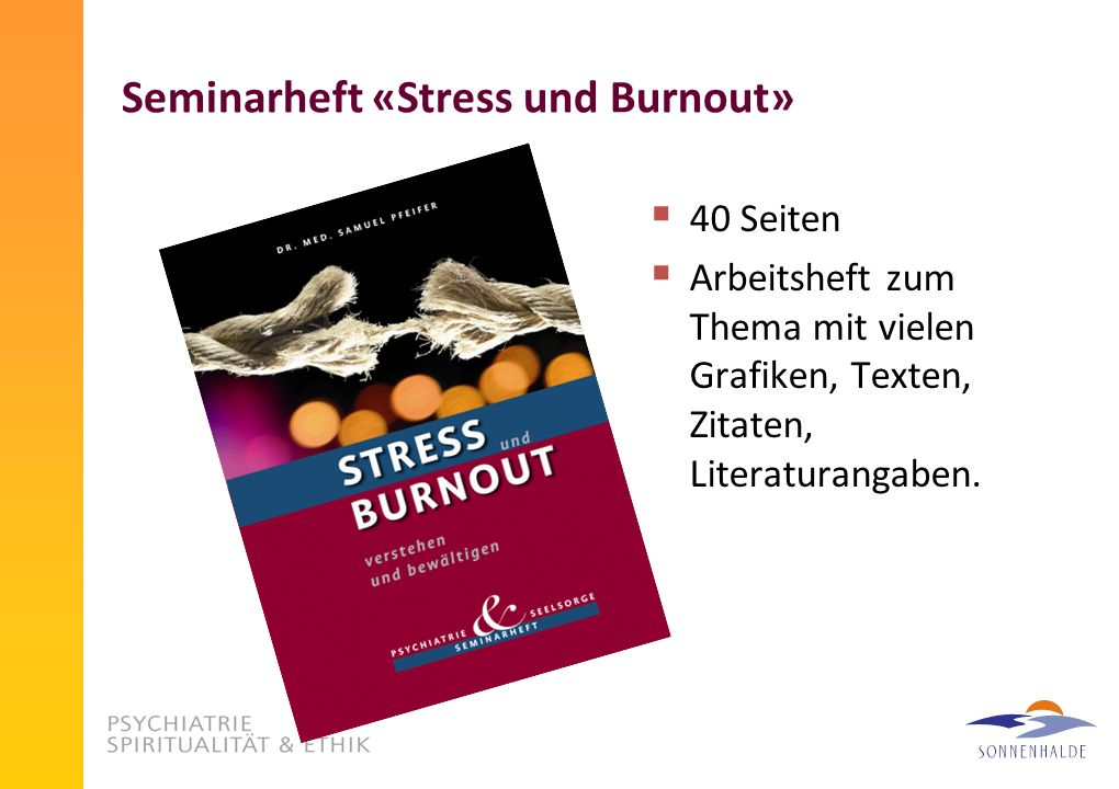 Seminarheft «Stress und Burnout»