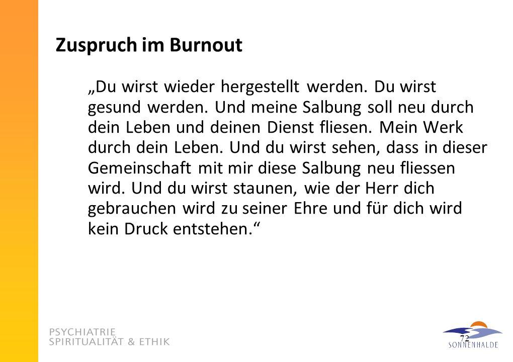 Zuspruch im Burnout