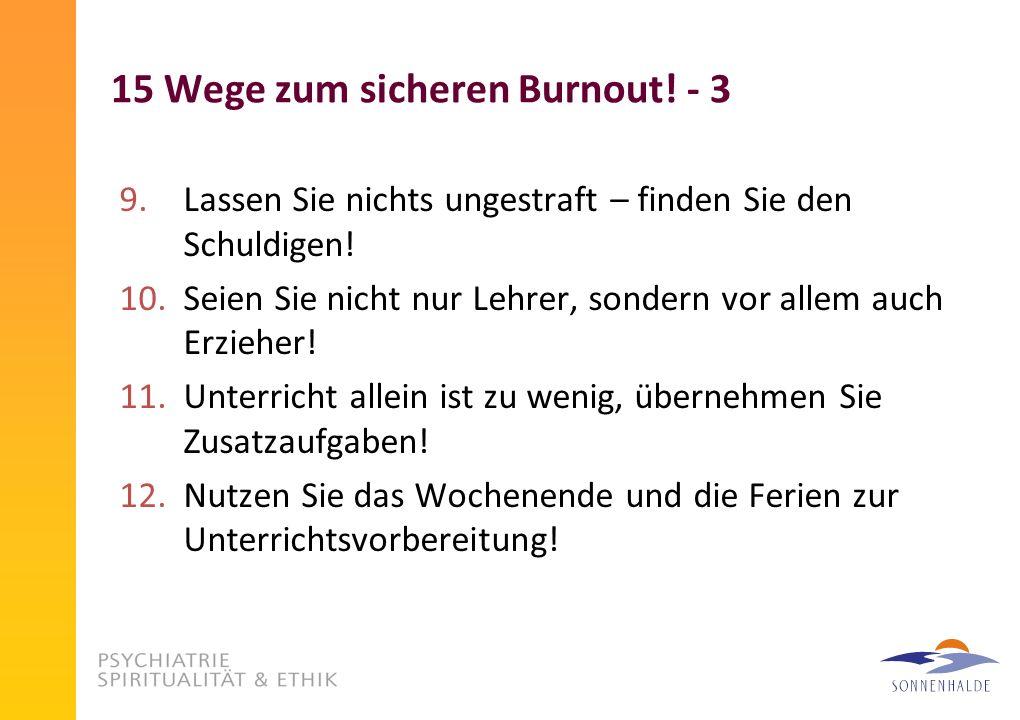 15 Wege zum sicheren Burnout! - 3