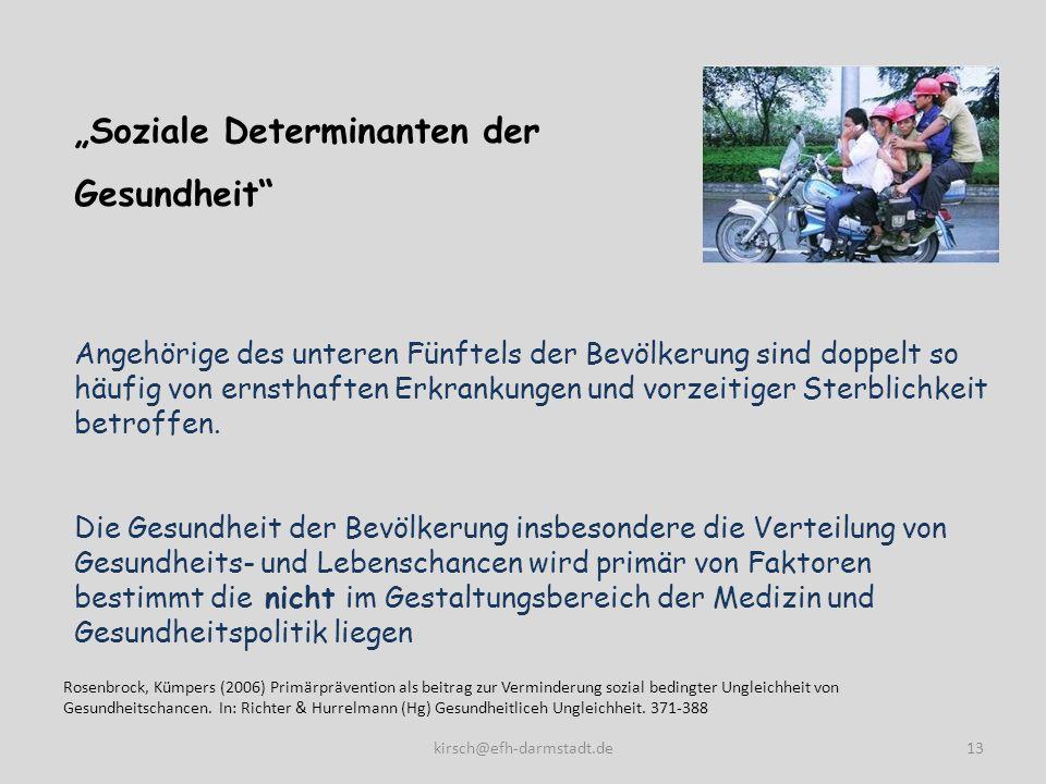 """""""Soziale Determinanten der Gesundheit"""