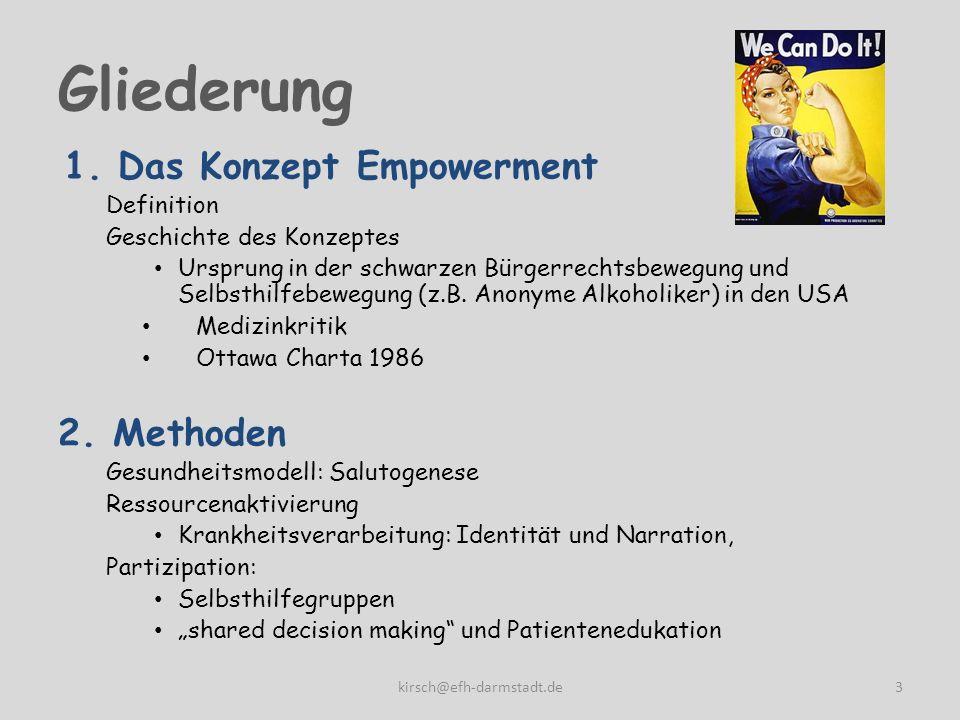 Gliederung Das Konzept Empowerment 2. Methoden Definition