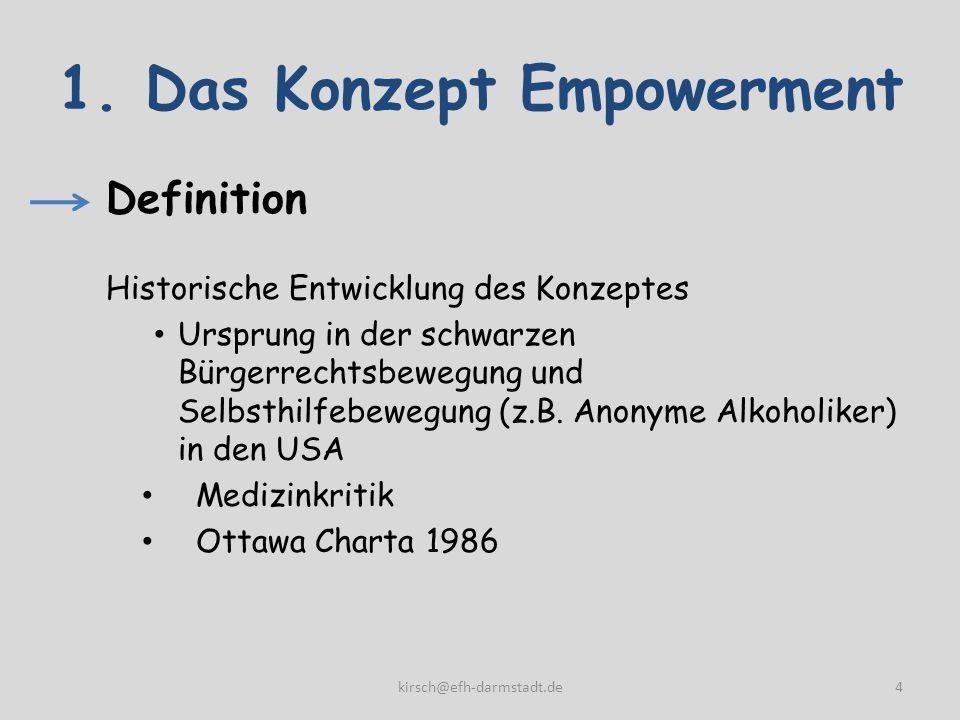 1. Das Konzept Empowerment