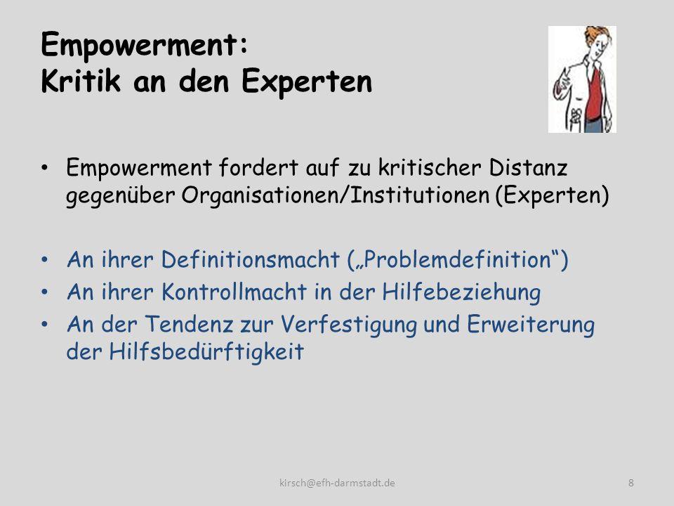 Empowerment: Kritik an den Experten