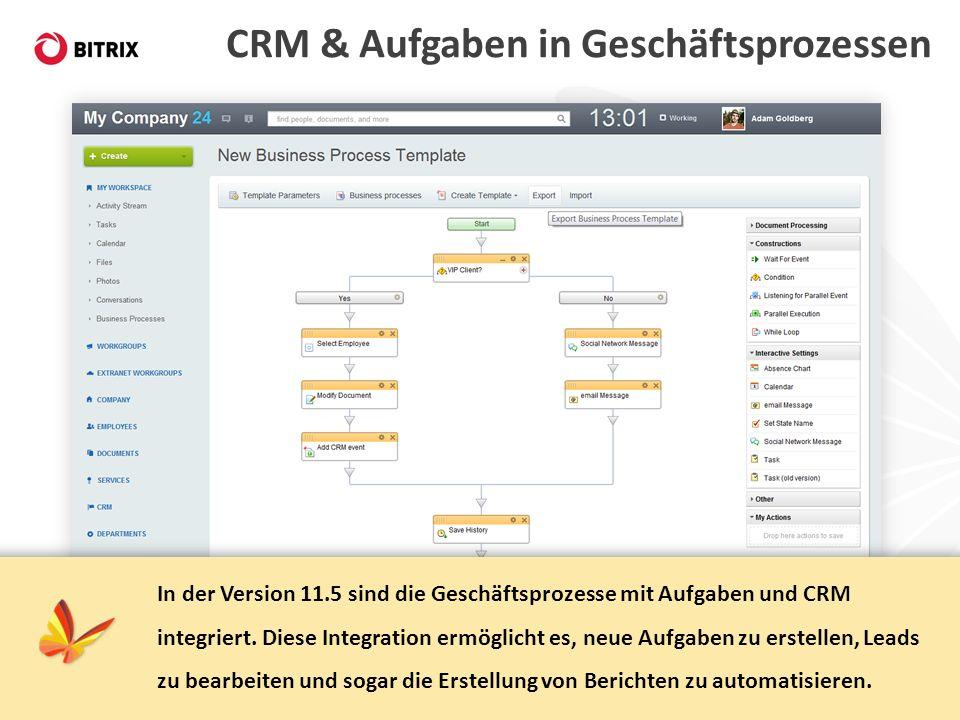 CRM & Aufgaben in Geschäftsprozessen