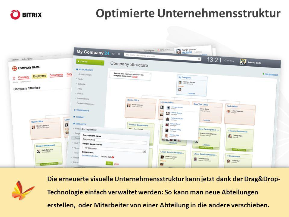 Optimierte Unternehmensstruktur