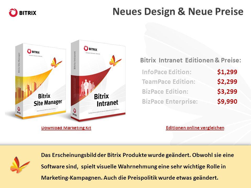 Neues Design & Neue Preise
