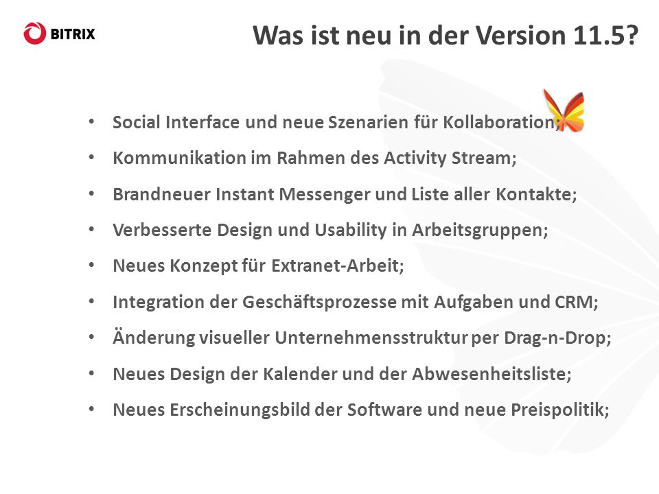 Was ist neu in der Version 11.5