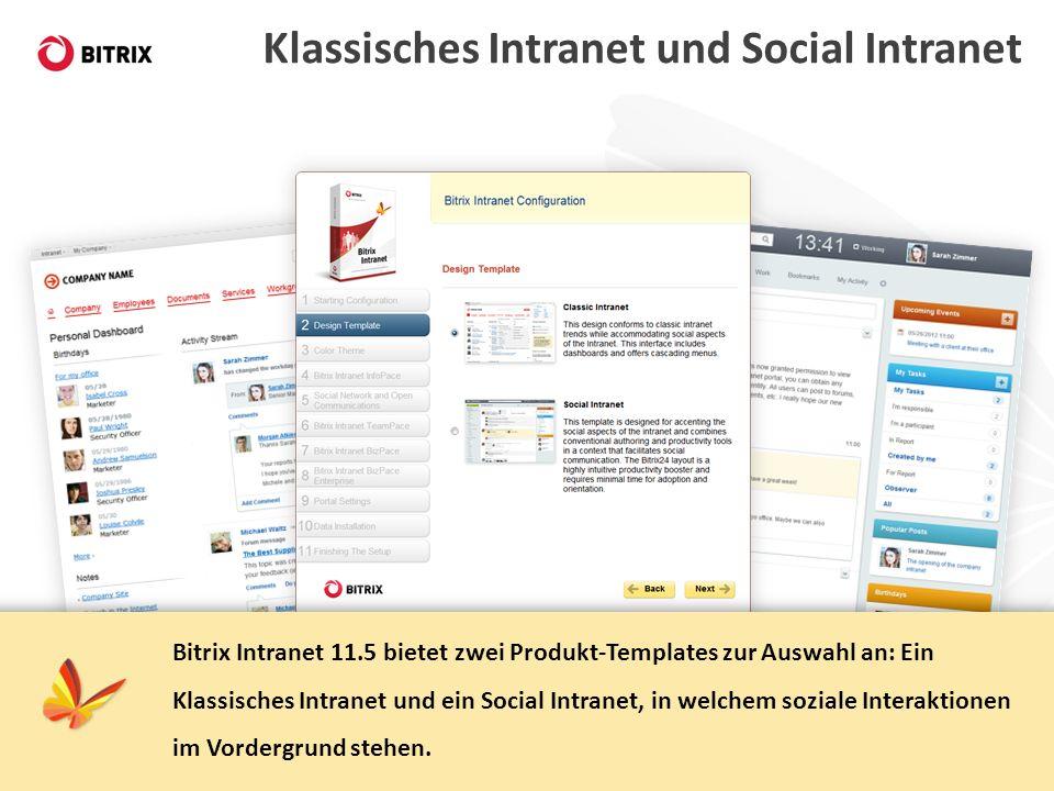 Klassisches Intranet und Social Intranet
