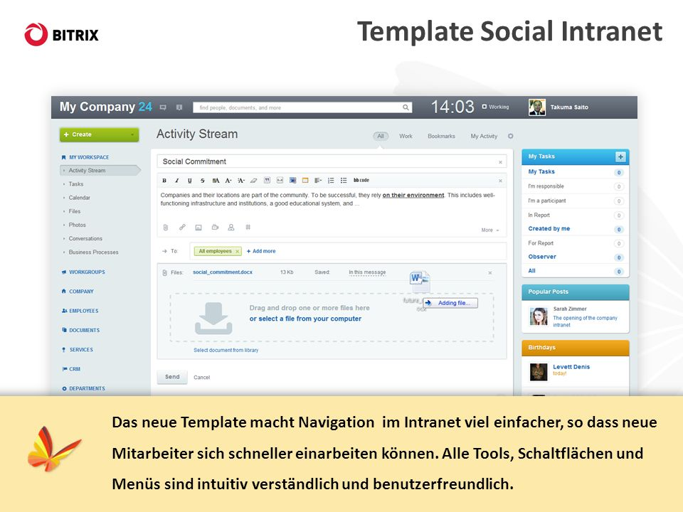 Template Social Intranet