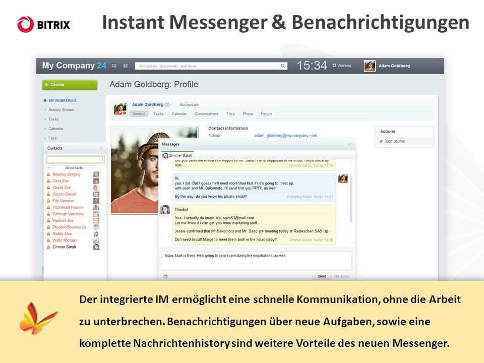 Instant Messenger & Benachrichtigungen