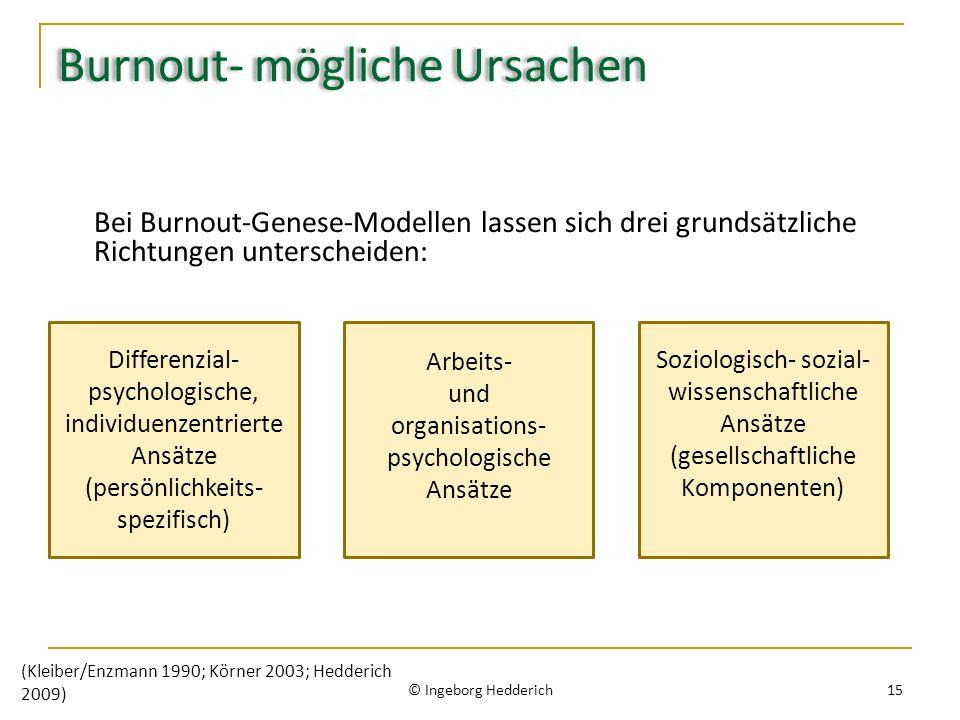 Burnout- mögliche Ursachen