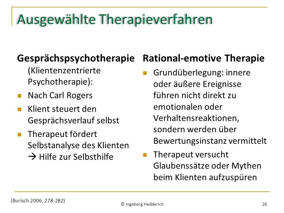 Ausgewählte Therapieverfahren