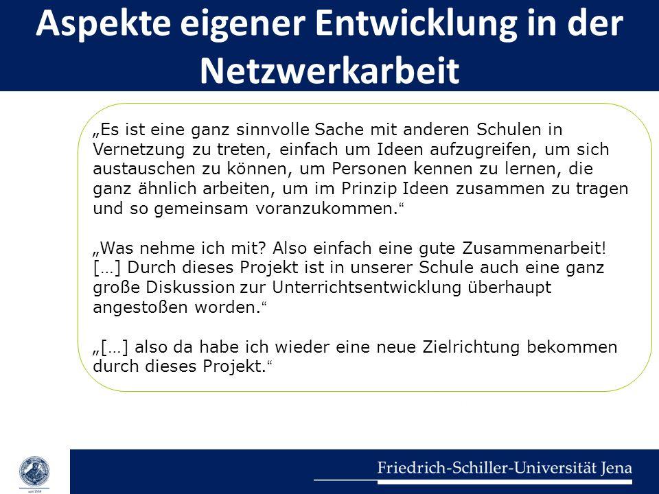 Aspekte eigener Entwicklung in der Netzwerkarbeit