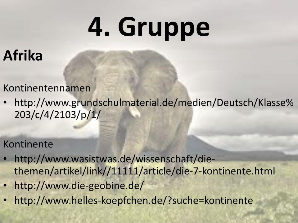 4. Gruppe Afrika Kontinentennamen