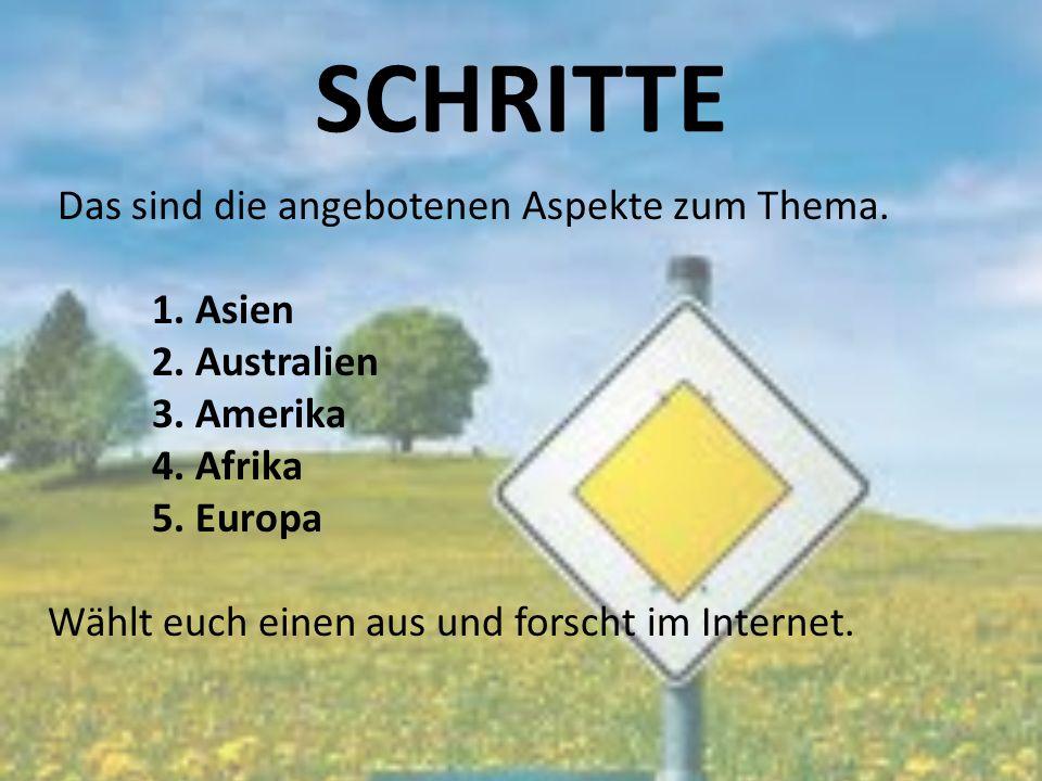 SCHRITTE