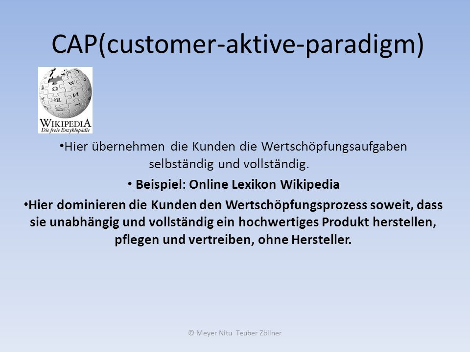 CAP(customer-aktive-paradigm)