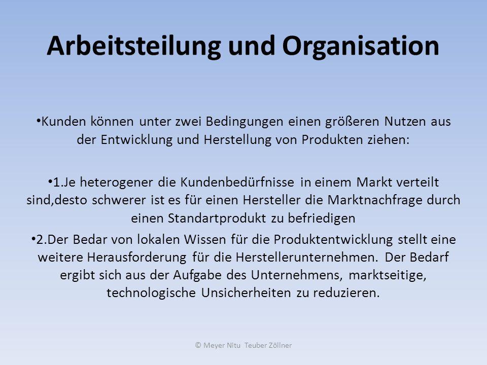 Arbeitsteilung und Organisation