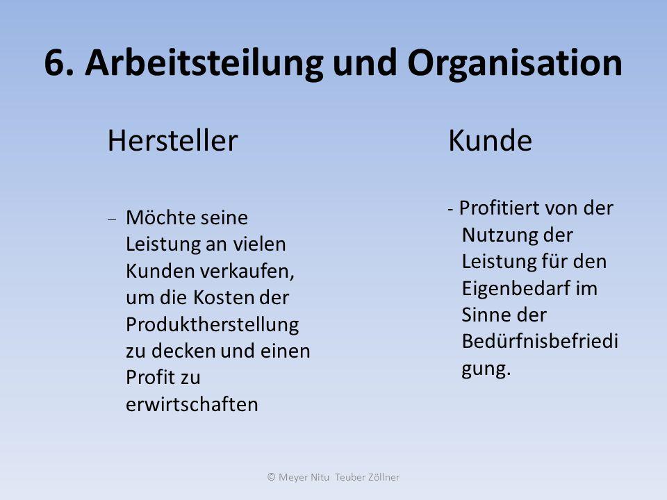 6. Arbeitsteilung und Organisation