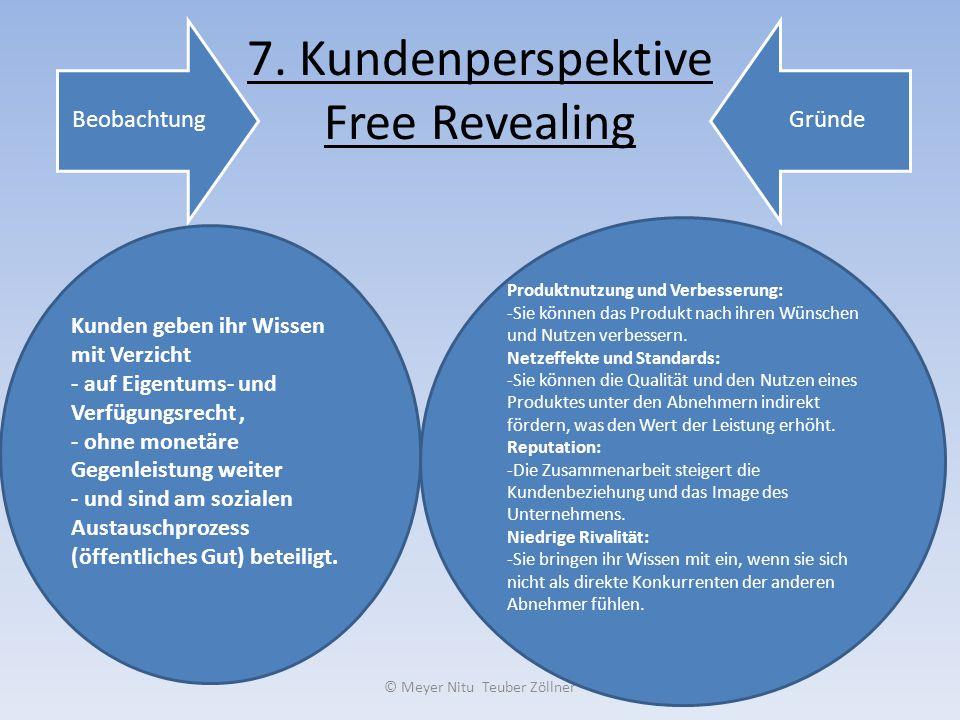 7. Kundenperspektive Free Revealing