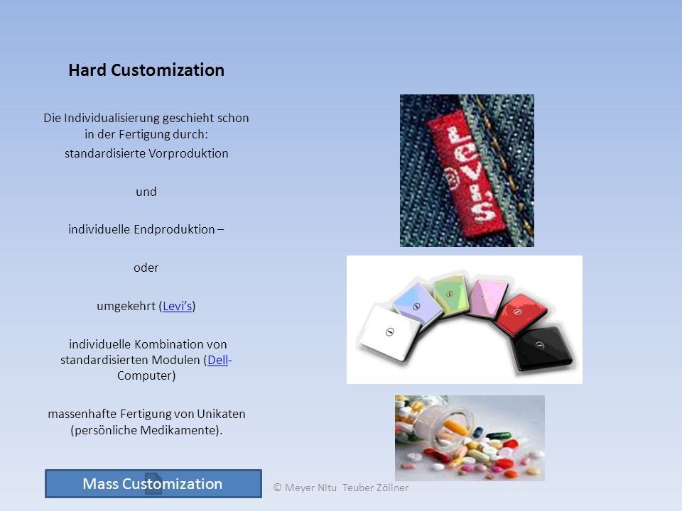 Hard Customization Mass Customization