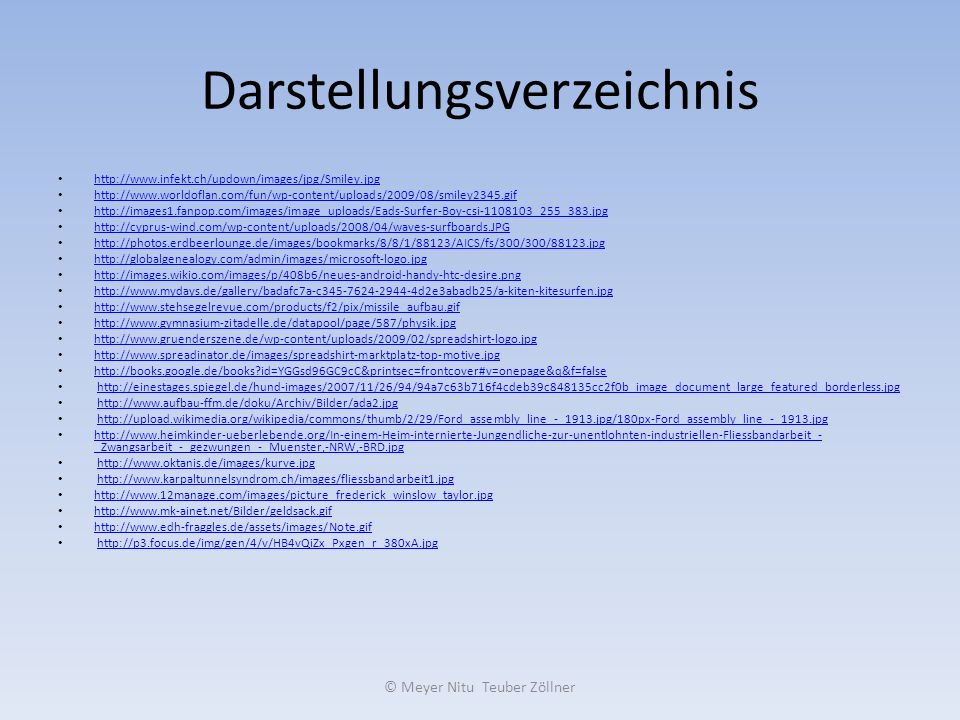 Darstellungsverzeichnis