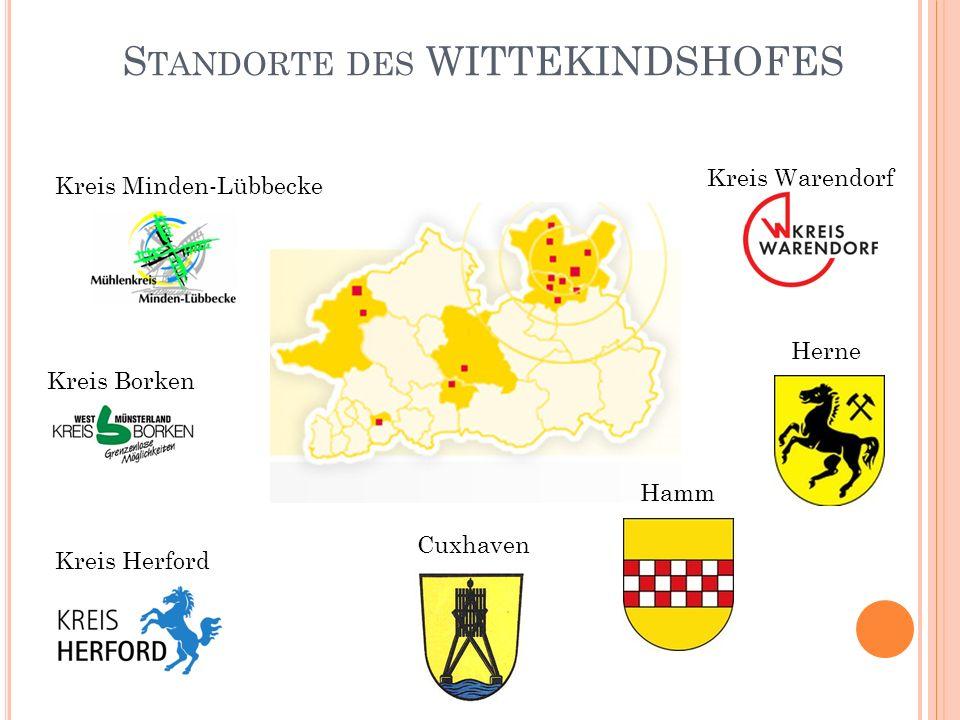 Standorte des WITTEKINDSHOFES