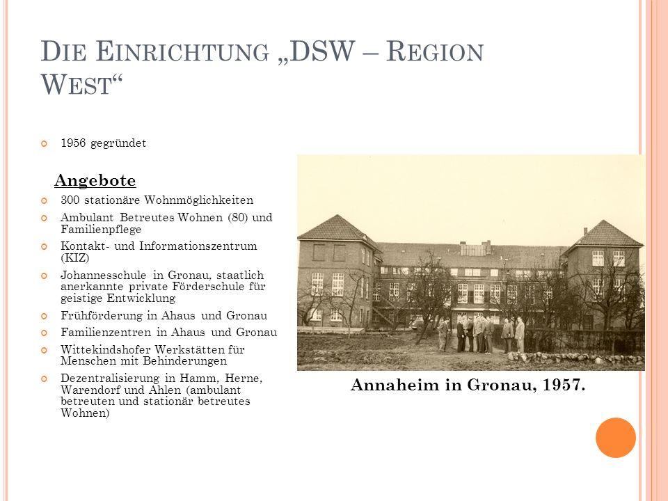 """Die Einrichtung """"DSW – Region West"""