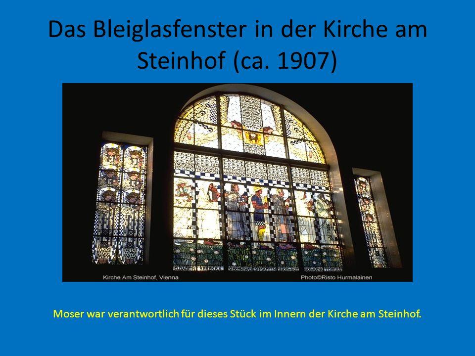 Das Bleiglasfenster in der Kirche am Steinhof (ca. 1907)