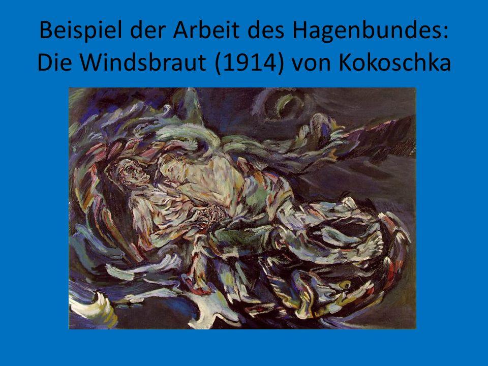 Beispiel der Arbeit des Hagenbundes: Die Windsbraut (1914) von Kokoschka