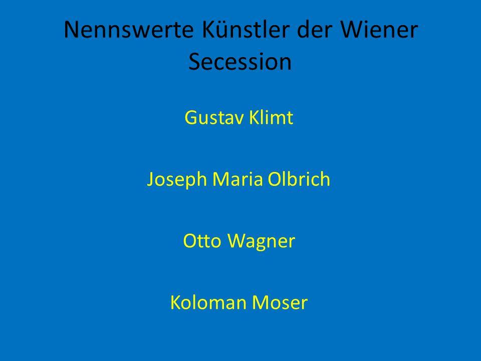 Nennswerte Künstler der Wiener Secession