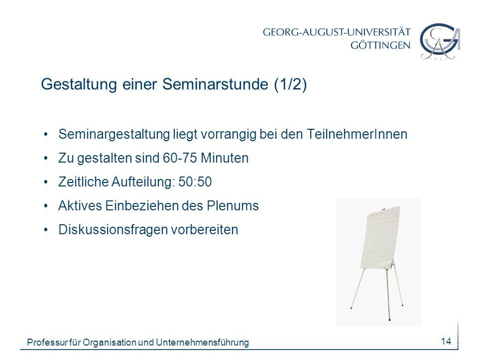 Gestaltung einer Seminarstunde (1/2)