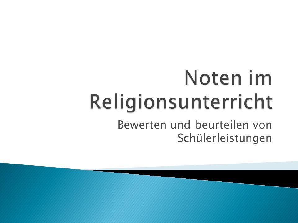 Noten im Religionsunterricht