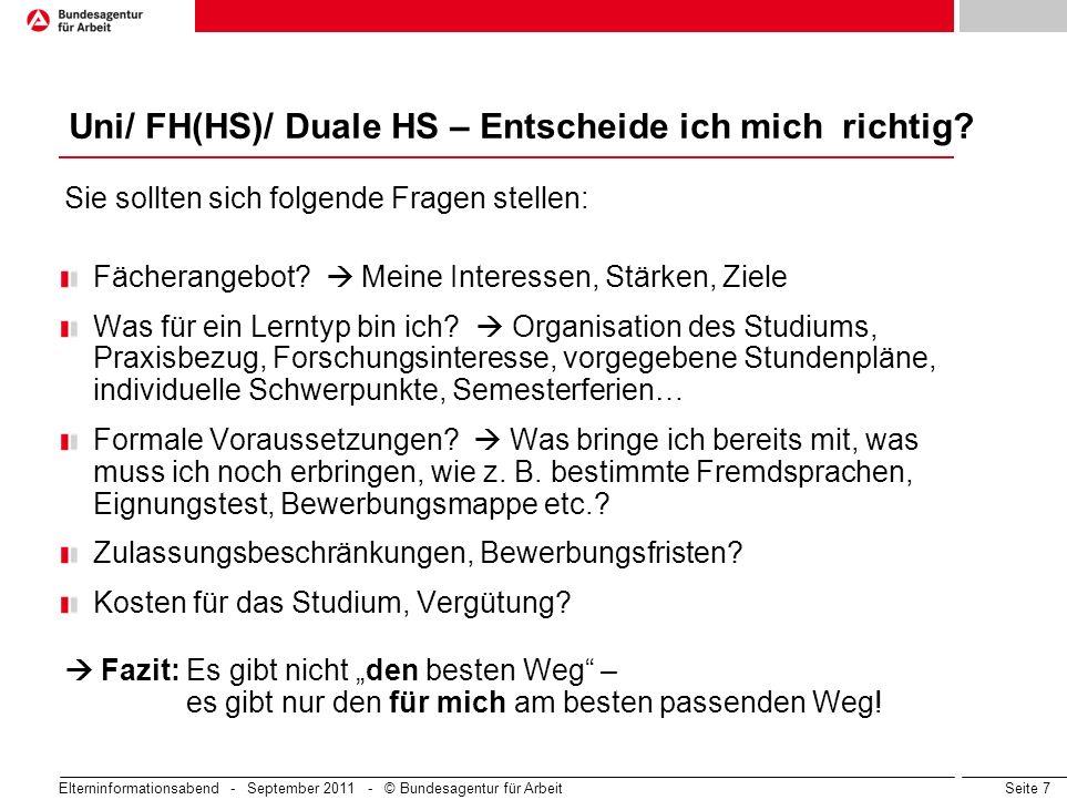 Uni/ FH(HS)/ Duale HS – Entscheide ich mich richtig