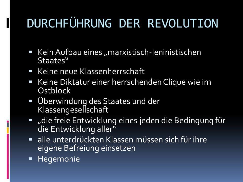 DURCHFÜHRUNG DER REVOLUTION
