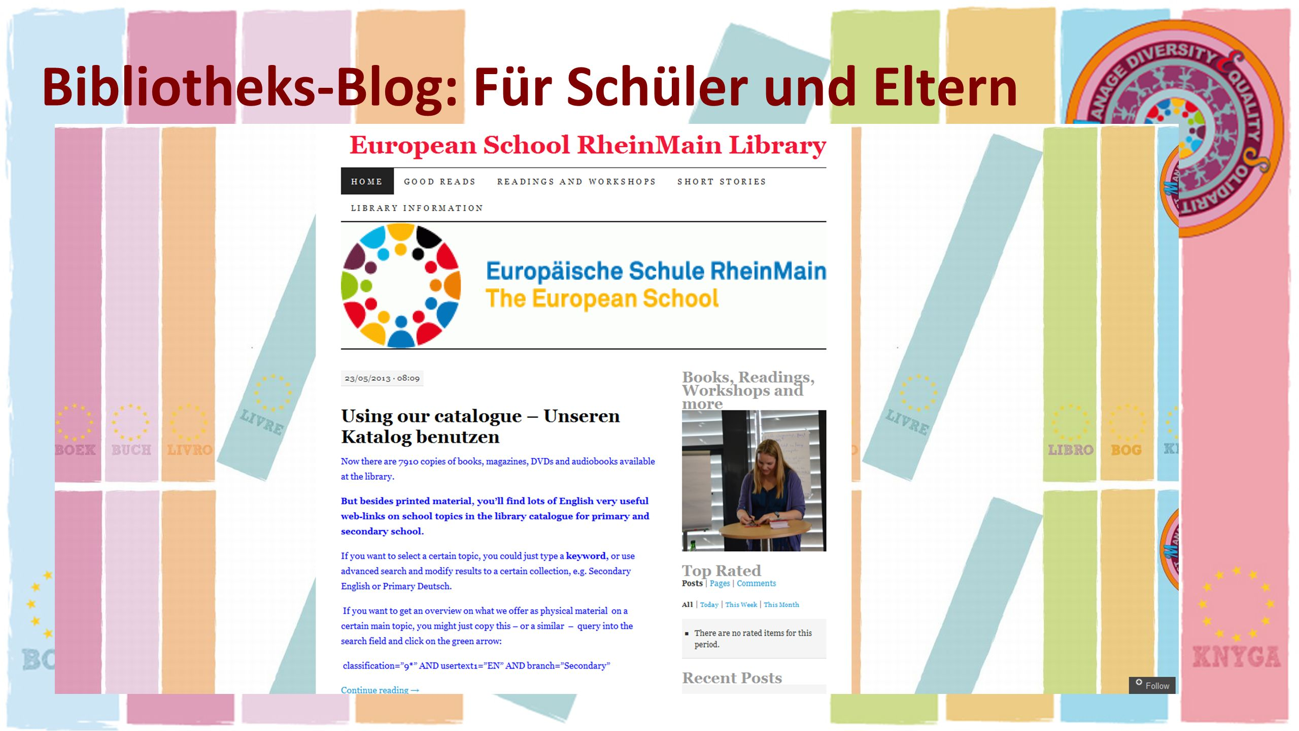 Bibliotheks-Blog: Für Schüler und Eltern