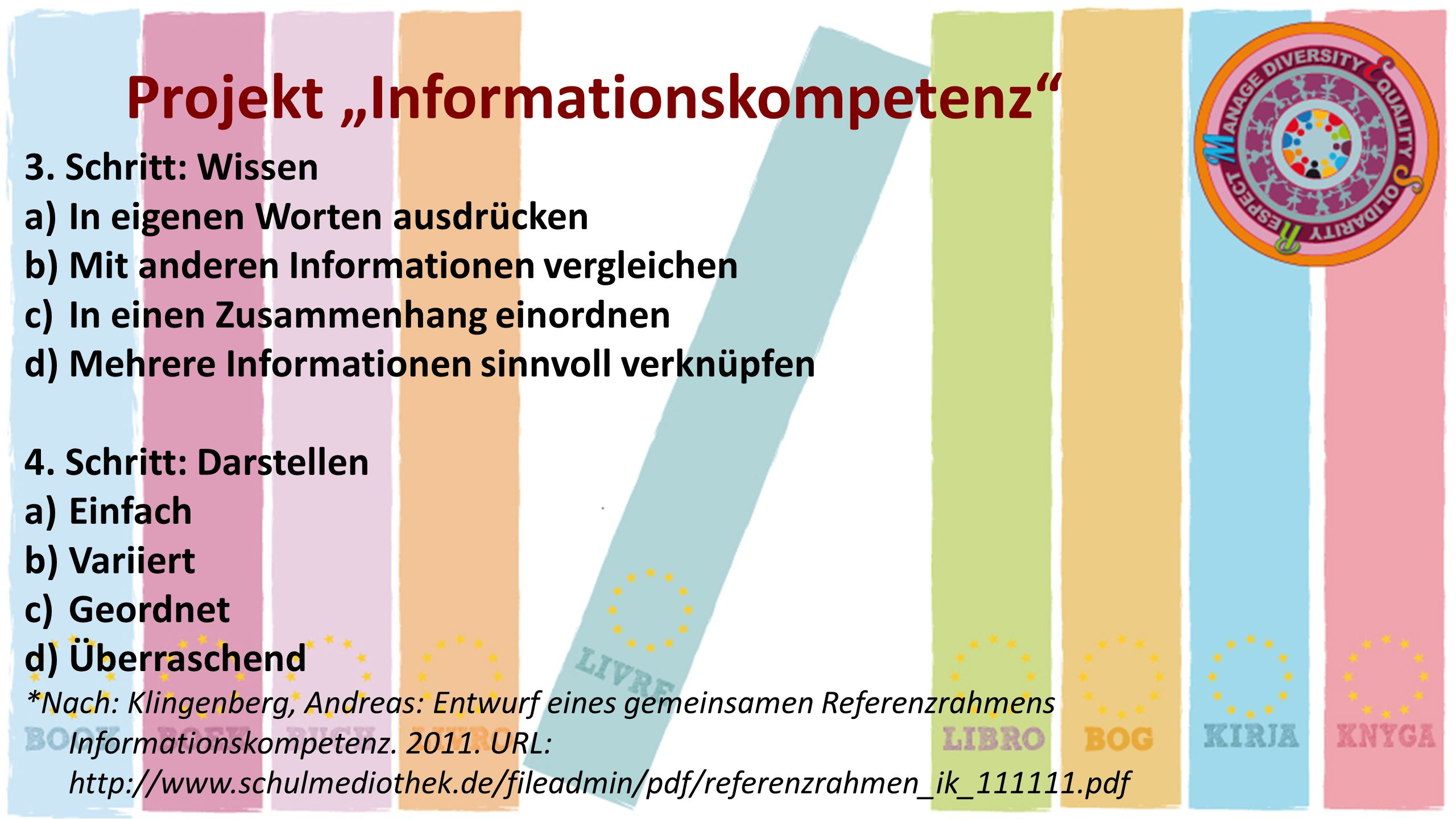 "Projekt ""Informationskompetenz"