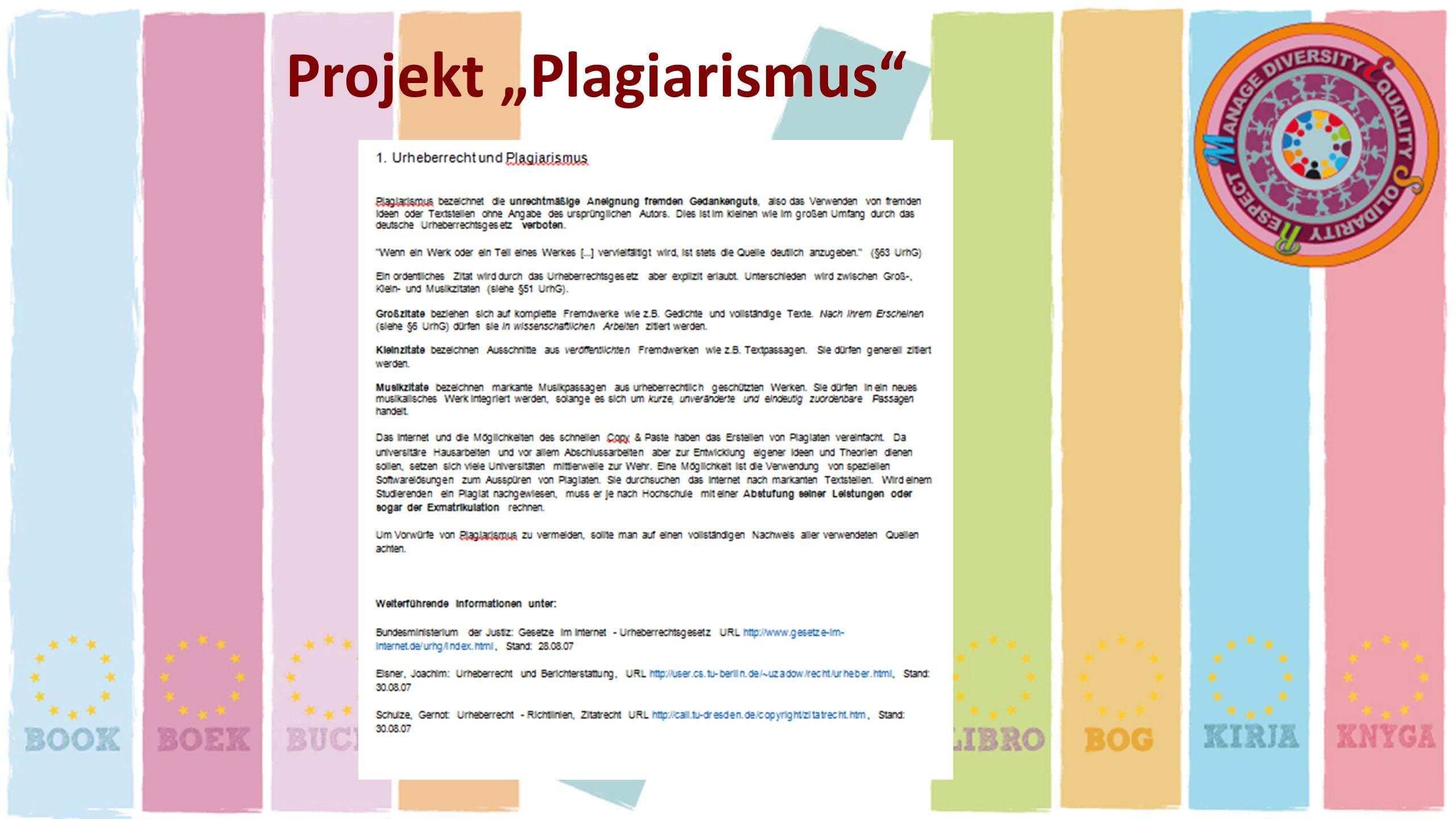"Projekt ""Plagiarismus"