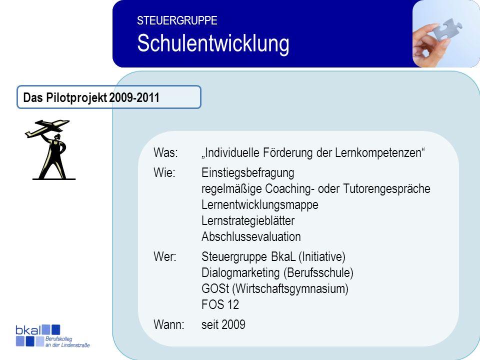Schulentwicklung Das Pilotprojekt 2009-2011