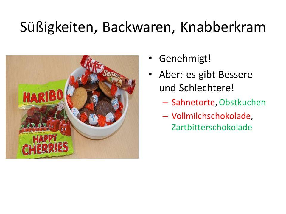 Süßigkeiten, Backwaren, Knabberkram