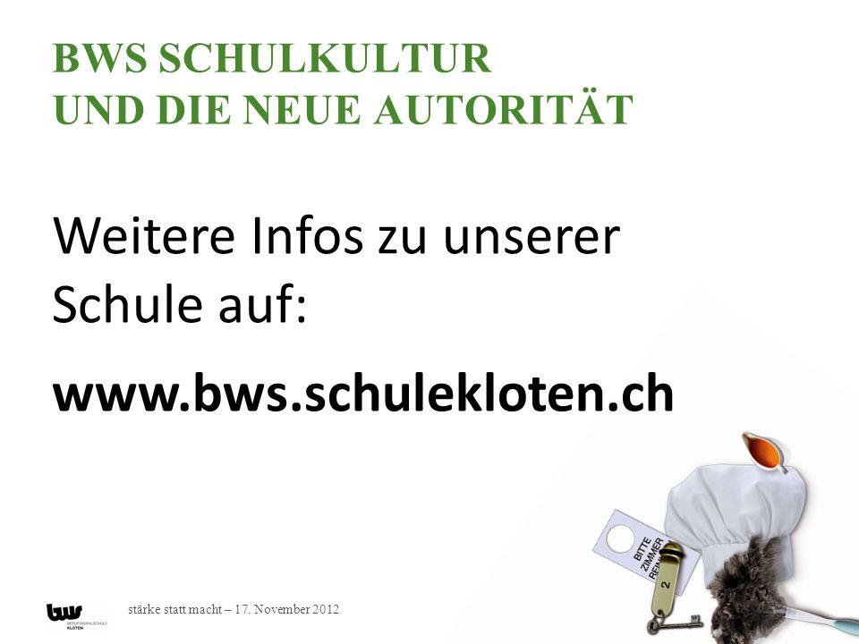 BWS Schulkultur und die Neue Autorität