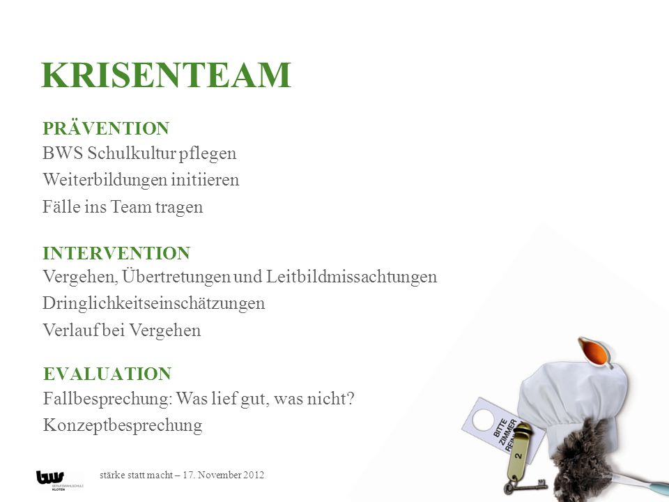 Krisenteam Prävention